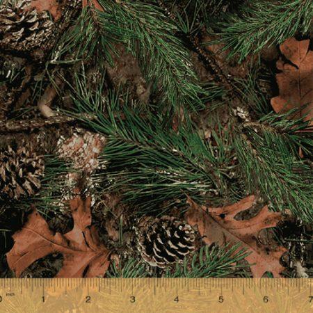 Quiltstof katoen Camo Forest multi. Verkoop per 25 cm