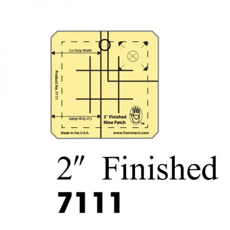 Marti Michell 7111 Nine Patch Ruler 2 inch. Gemaakt van sterk acryl