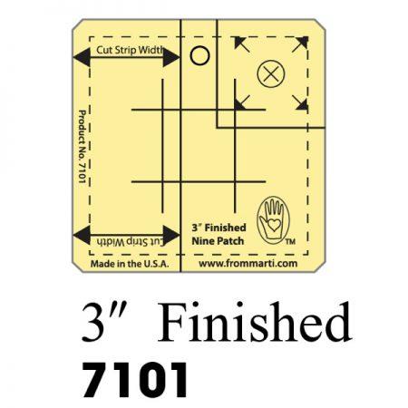 Marti Michell 7101 Nine Patch Ruler 3 inch. Gemaakt van sterk acryl