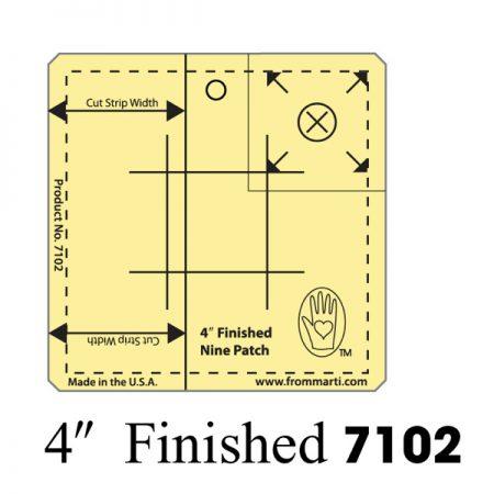 Marti Michell 7102 Nine Patch Ruler 4 inch. Gemaakt van sterk acryl