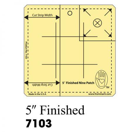 Marti Michell 7103 Nine Patch Ruler 5 inch. Gemaakt van sterk acryl