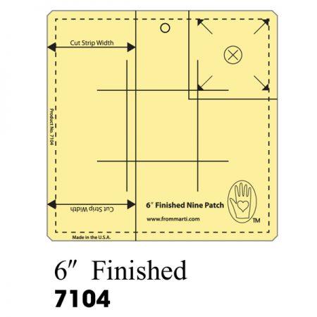 Met deze liniaal kunt u een 9 patch block maken met een afmeting van van 6 inch.