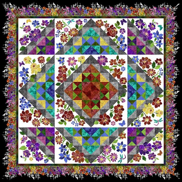 Jason Yenter Quiltpatroon Rainbow of Jewels