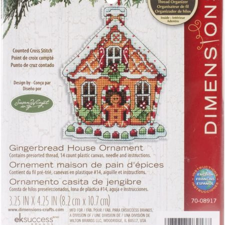 Dimensions Borduurpakket Gingerbread House 70-08917