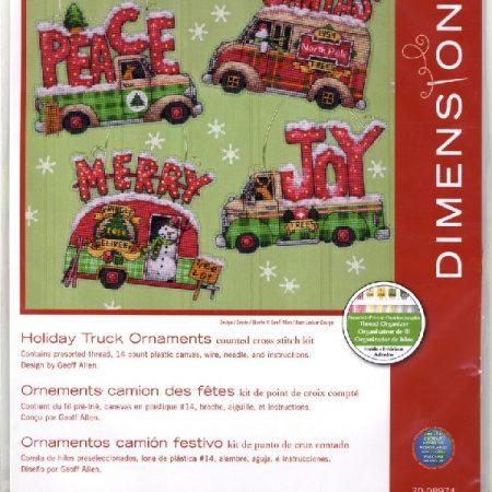 Dimensions Borduurpakket Holiday Truck Ornaments 70-08974