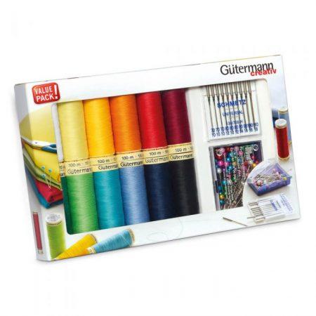 Gutermann naaigaren polyester alles naaigaren met spelden en naalden 734563