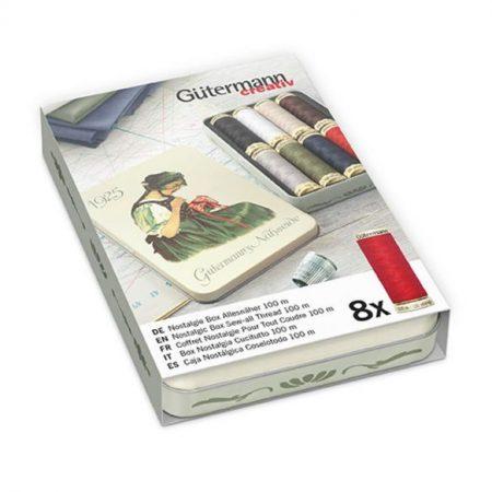 Gutermann polyester alles naaigaren Nostalgiebox 640950