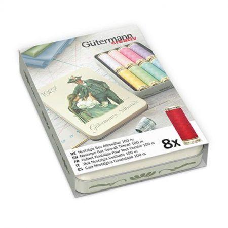 Gutermann polyester alles naaigaren Nostalgiebox 640951