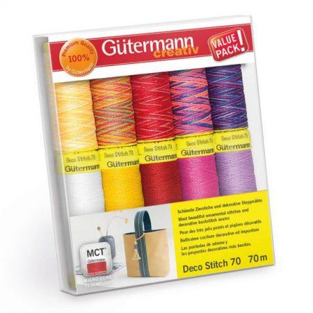 Gutermann naaigaren polyester naaigaren Deco Stitch 702166 col 1