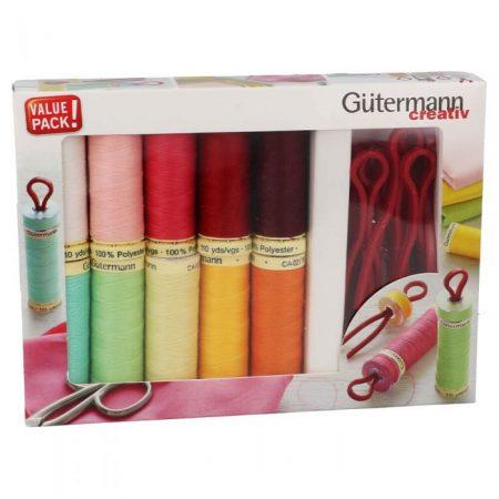 Gutermann naaigaren polyester alles naaigaren met bobbin clips 734565