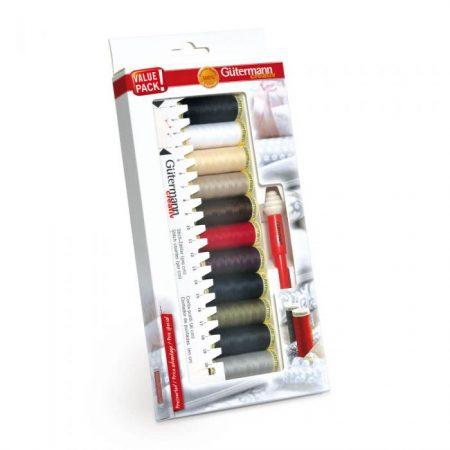 Gutermann naaigaren polyester alles naaigaren met tornmesje en meetlatje 734578