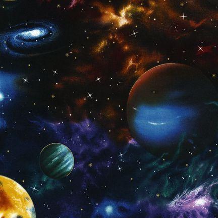 Quiltstof katoen Manen en Planeten 6075-2