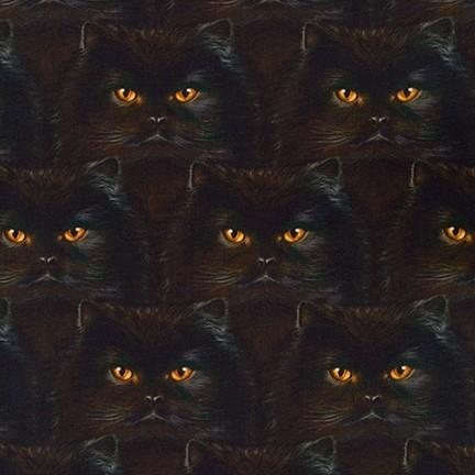 Quiltstof katoen Katten Brits korthaar koppen 19562-2
