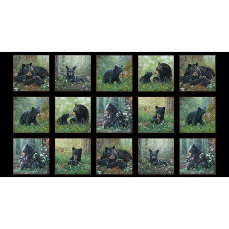 Quiltstof katoen Tender Moments Beren panel 9606