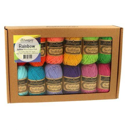 Scheepjes Brei- en haakgaren Softfun Minis Colour Pack Rainbow