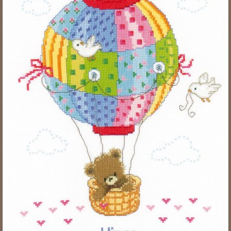 Vervaco Borduurpakket Aida Geboortetegel Ballonvaart 147916