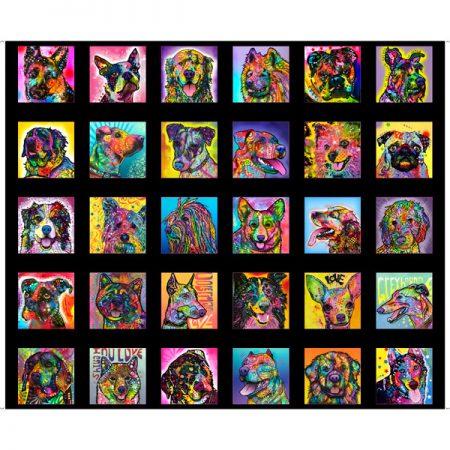 Quiltstof katoen panel Doggie Daze klein 27958