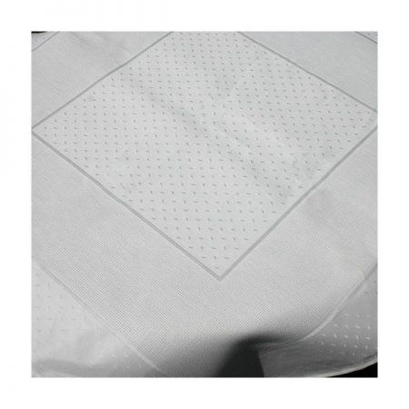 Dekservet damast met ingeweven aidarand wit 160.00