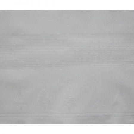 Tafelloper damast met ingeweven aidarand wit 3078