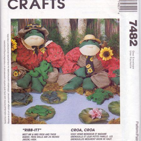 McCall's Crafts 7482 De kikkerfamilie