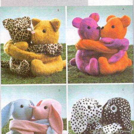 Butterick B4153 Lieve dierenknuffels