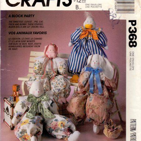 McCall's Crafts P368 Dierenpoppen