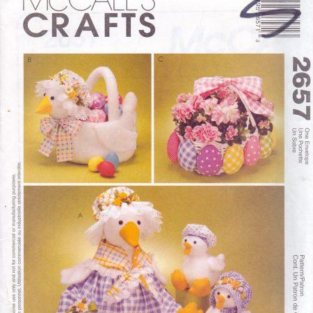 McCall's Crafts 2657 Eend, mandje en eieren