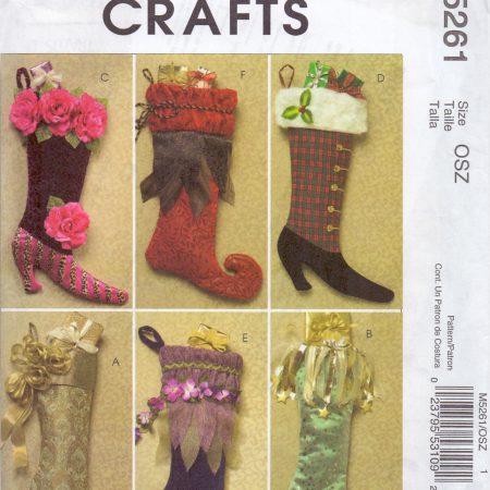 McCall's Crafts 5261 Kerstsokken Siersokken