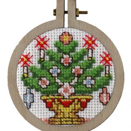Pako Borduurpakket Aida kersthanger kerstboom 204020