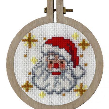 Pako Borduurpakket Aida kersthanger kerstman 204021