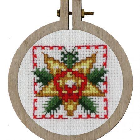 Pako Borduurpakket Aida kersthanger kerstster 204023