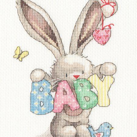 Bothy Threads Borduurpakket Aida Bebunni Baby XBB20